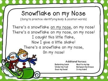 snowflake on my nose