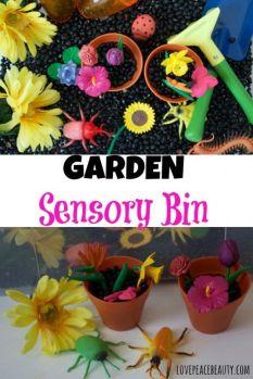 garden sensory bin-1